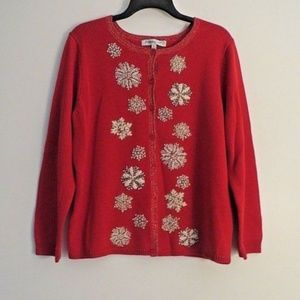 COLDWATER CREEK SNOWFLAKE SWEATER